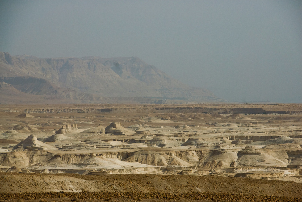 Eroded land as seen from Masada - Israel