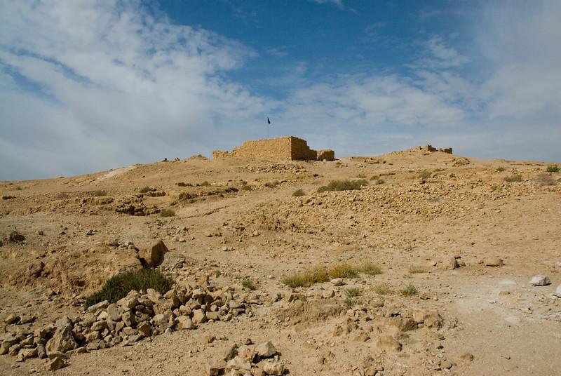 Building on top of Masada in Israel