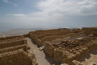 Ancient building on top of Masada in Israel