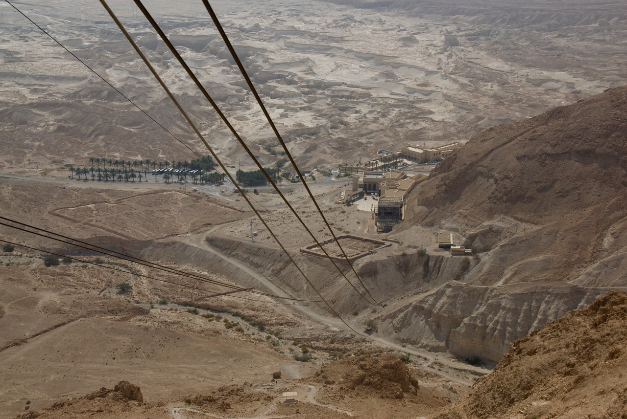 Cable car ride over Dead Sea in Israel