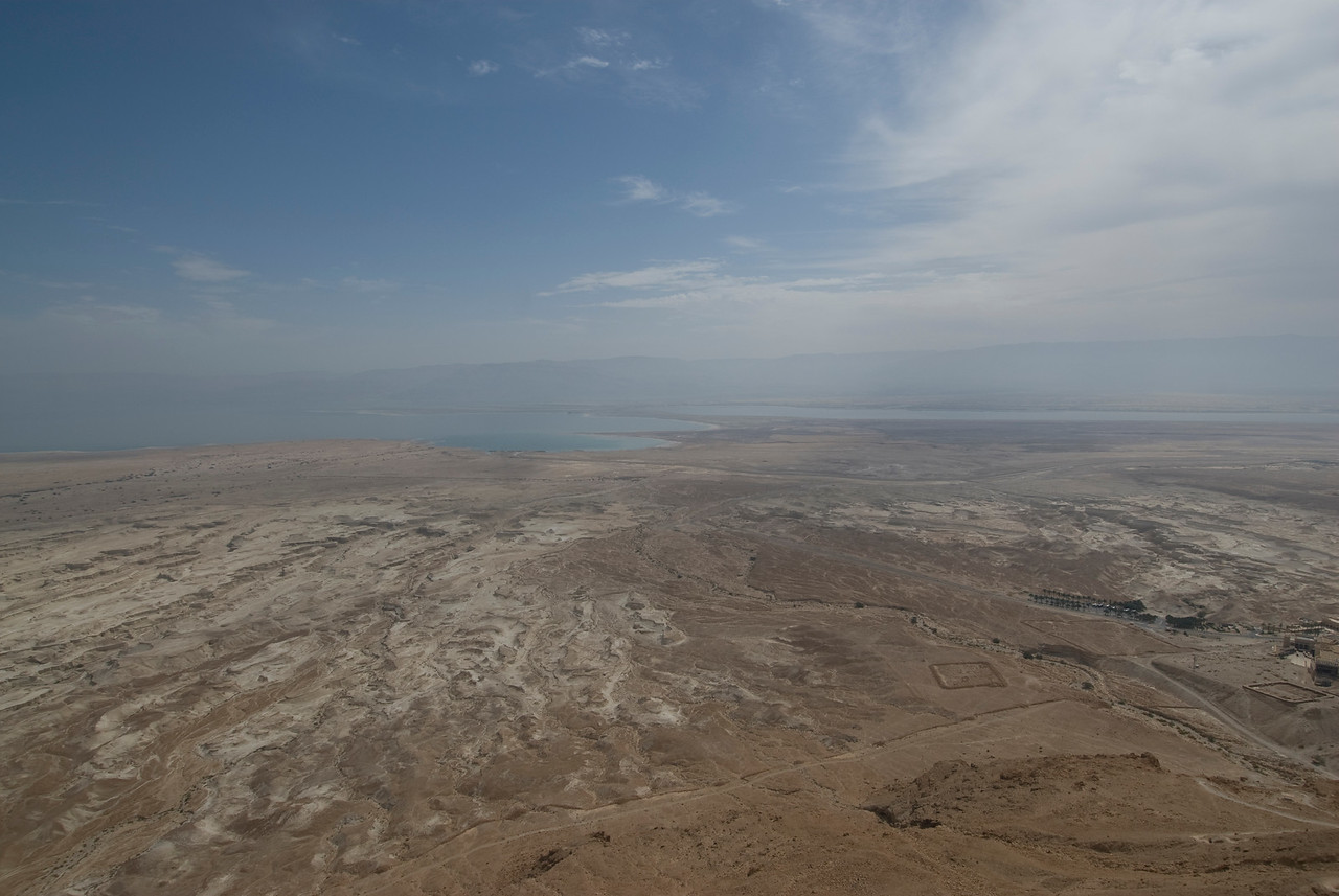 View of Dead Sea from Masada in Israel