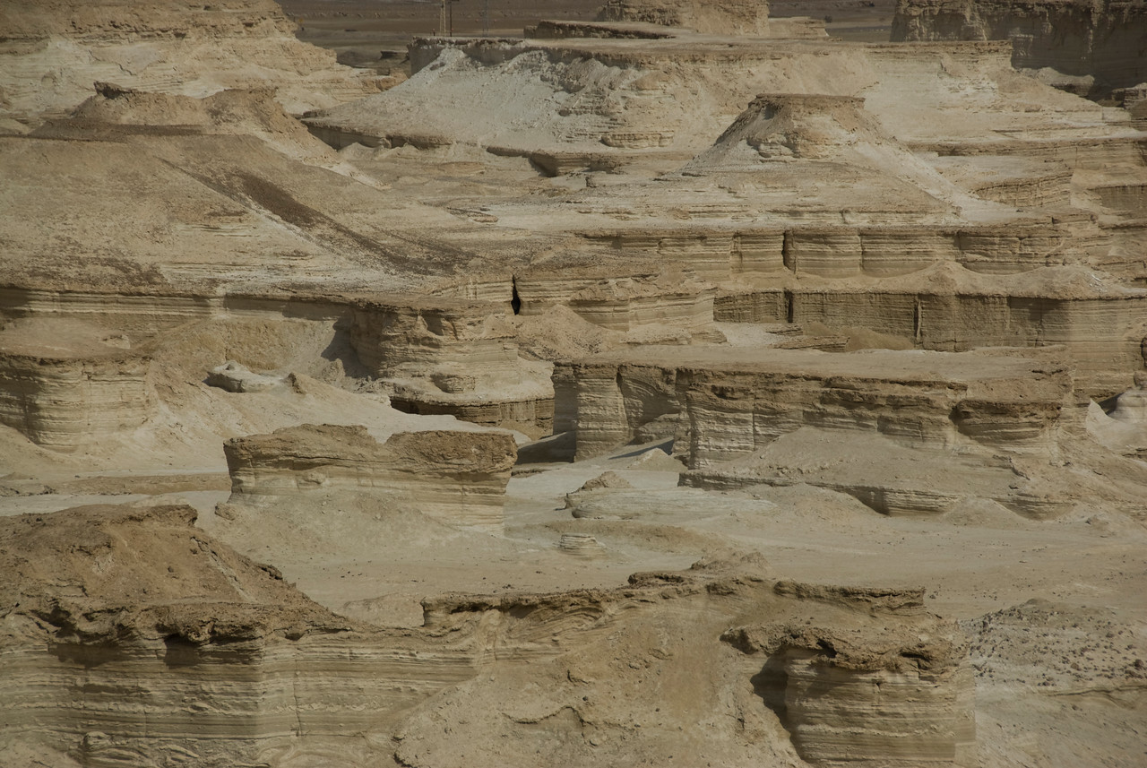 View of eroded land from Masada in Israel