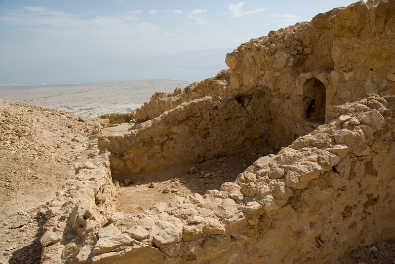 Ancient building on top of Masada in Israel