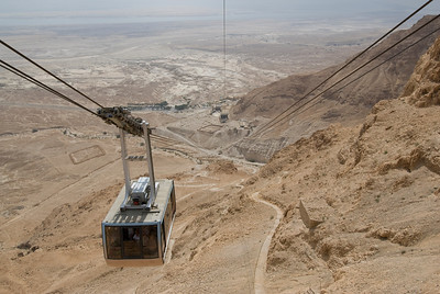 Cable car over Masada in Israel