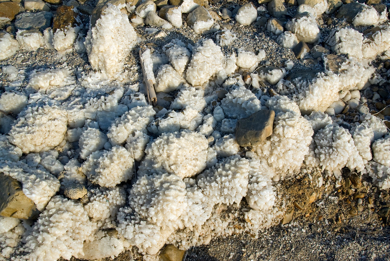 Salt residues from Dead Sea in Israel