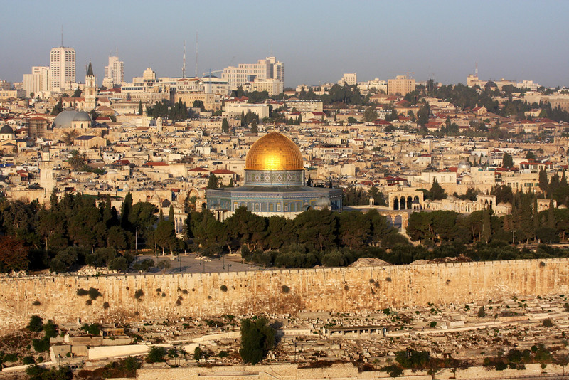 Jerusalem, Dome of the Rock , from Mount of Olives, 2007