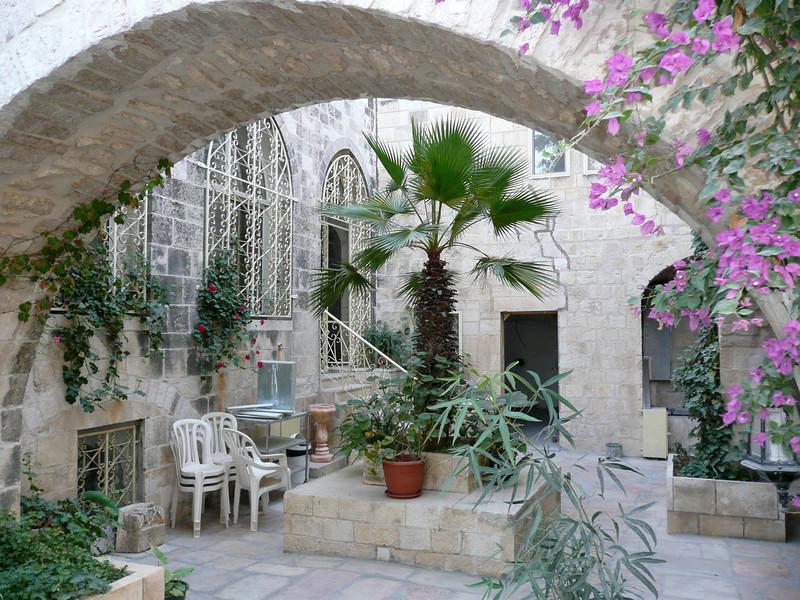 inner courtyard Jerusalem - Lutheran Guest House - Old Jerusalem (nr Jaffa Gate), 2007