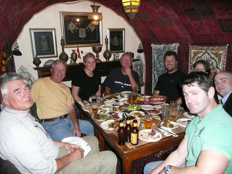 Our UN friends at dinner, Armenian Tavern nr Jaffa Gate,Jerusalem, The Old Walled City, 2007