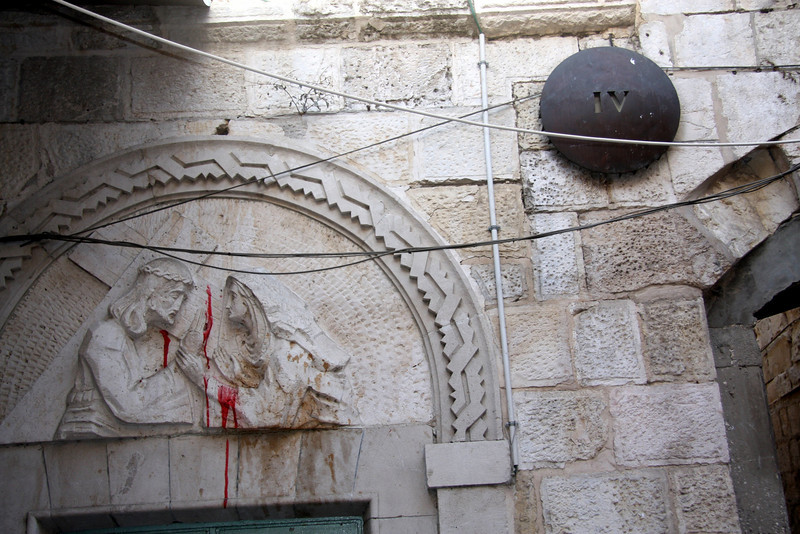 stop 4 on the Via Dolorosa, the road Christ may have walked on his way to the cross, there are a total of fourteen locations that mark events in the final days of Christ's life Jerusalem, The Old Walled City, 2007