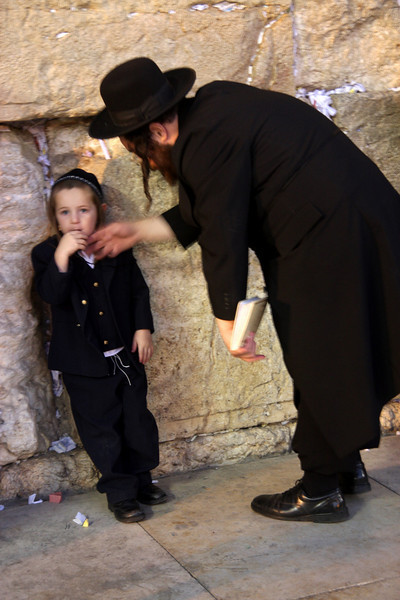 Father and Son at the Wailing Wall Jerusalem - The People, 2007