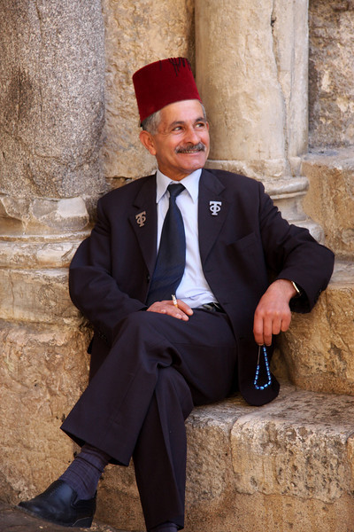 at the entrance of the Church of the Holy Sepulcher Jerusalem - The People, 2007