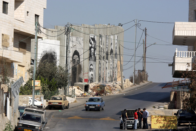 security walls in the Palestinian areas are part of everyday life. Jerusalem - The People, 2007