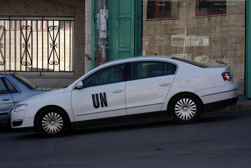 Our UN escort waits for us Jerusalem - The People, 2007