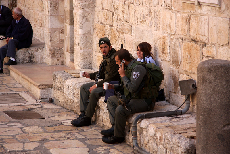 outside the Church of the Holy Sepulcher Jerusalem - The People, 2007