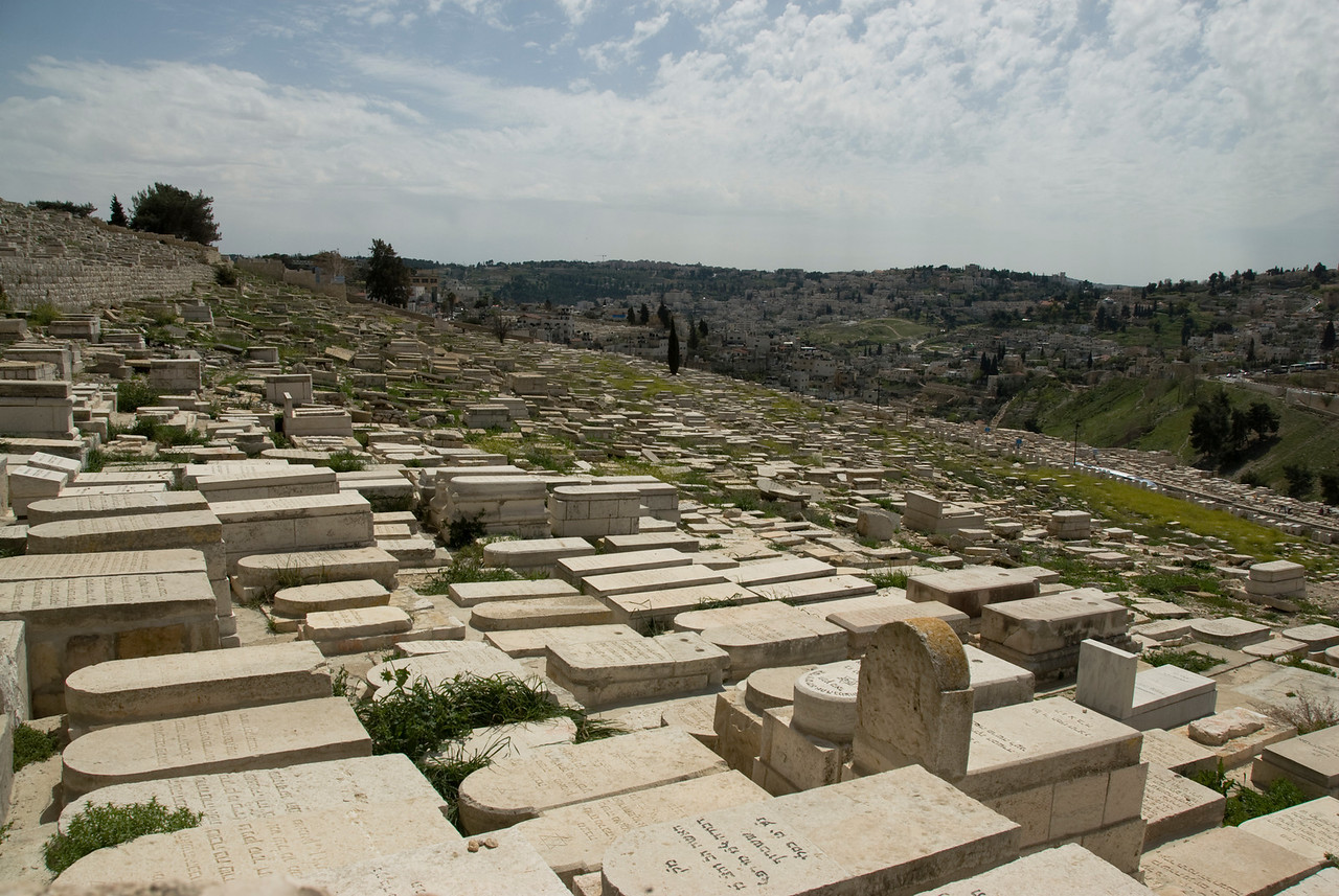 Jewish graves in Temple Mount in Jerusalem, Israel