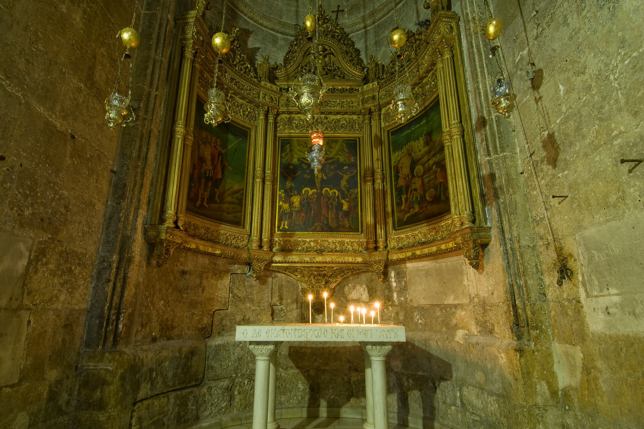 Side altar at the Church of the Holy Sepulchre in Jerusalem