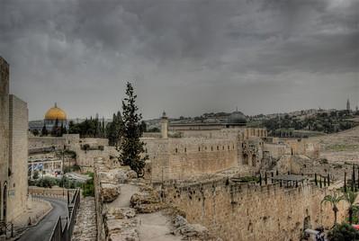 View of the skyline in Jerusalem, Israel