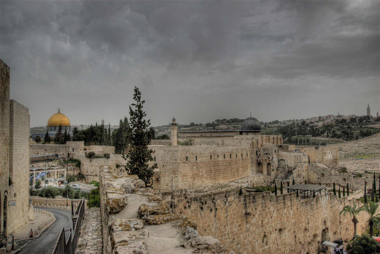 View of the skyline in Jerusalem, Israel