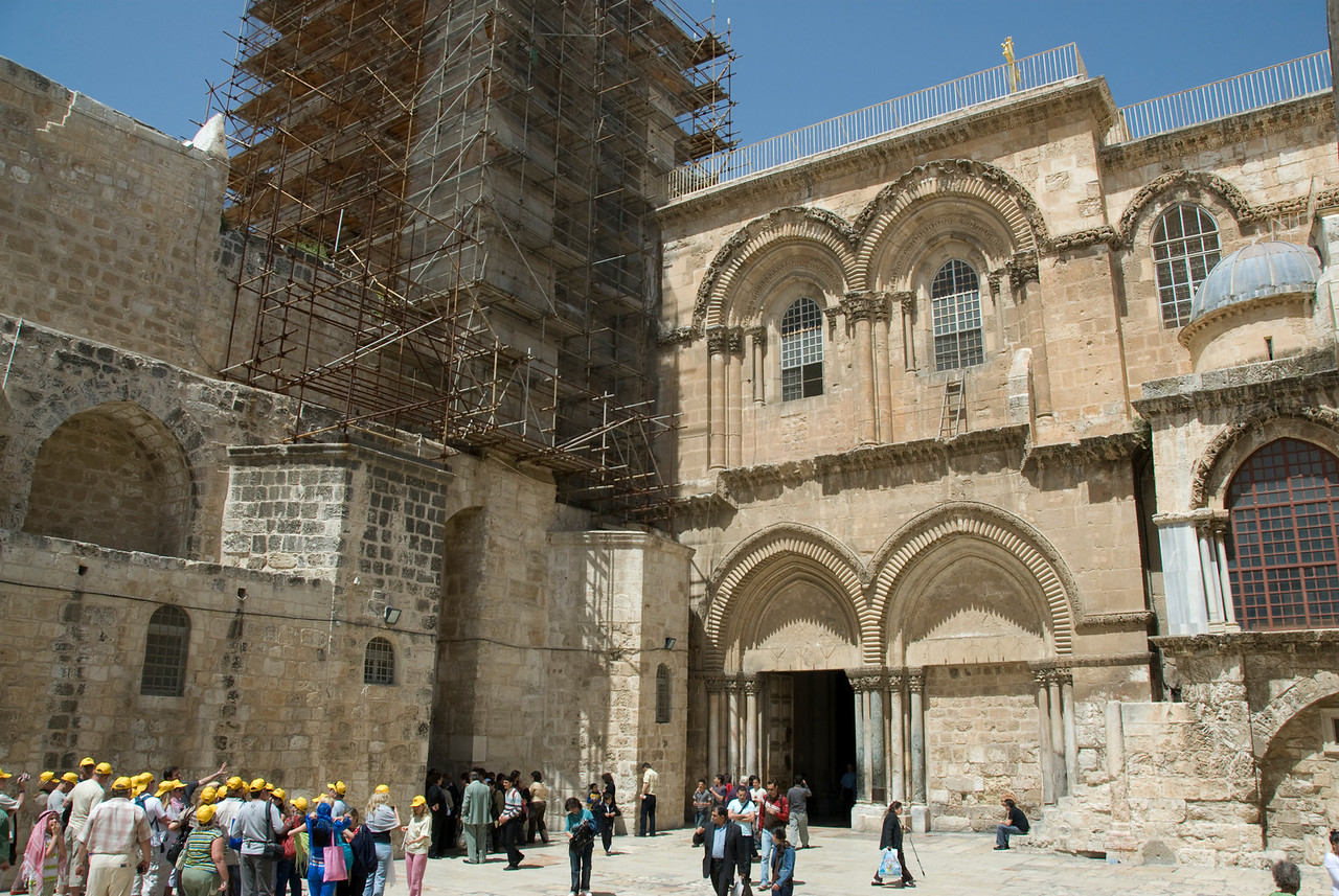Outside the Church of the Holy Sepulchre in Jerusalem, Israel