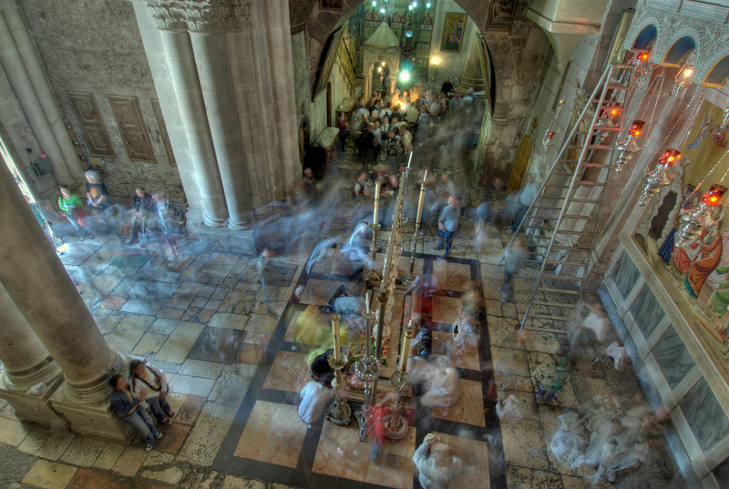 Inside the Church of Holy Sepulchre in Jerusalem, Israel