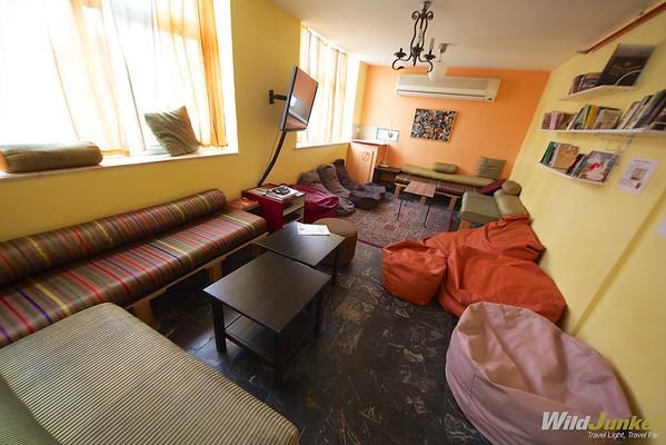 TV Room at Abraham Hostel