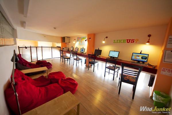 Internet Room at Abraham Hostel