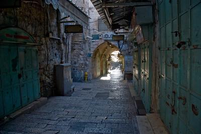 Quiet alley in Jerusalem, Israel