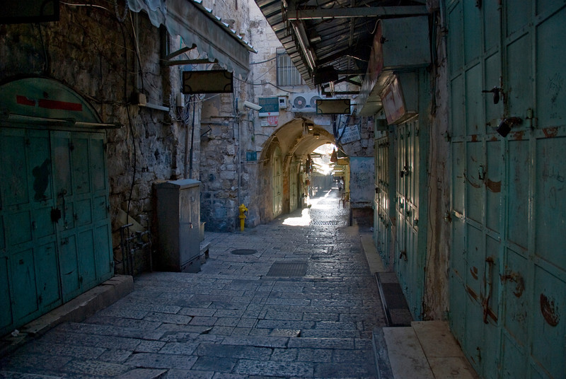 Quiet alley in Jerusalem, Israel