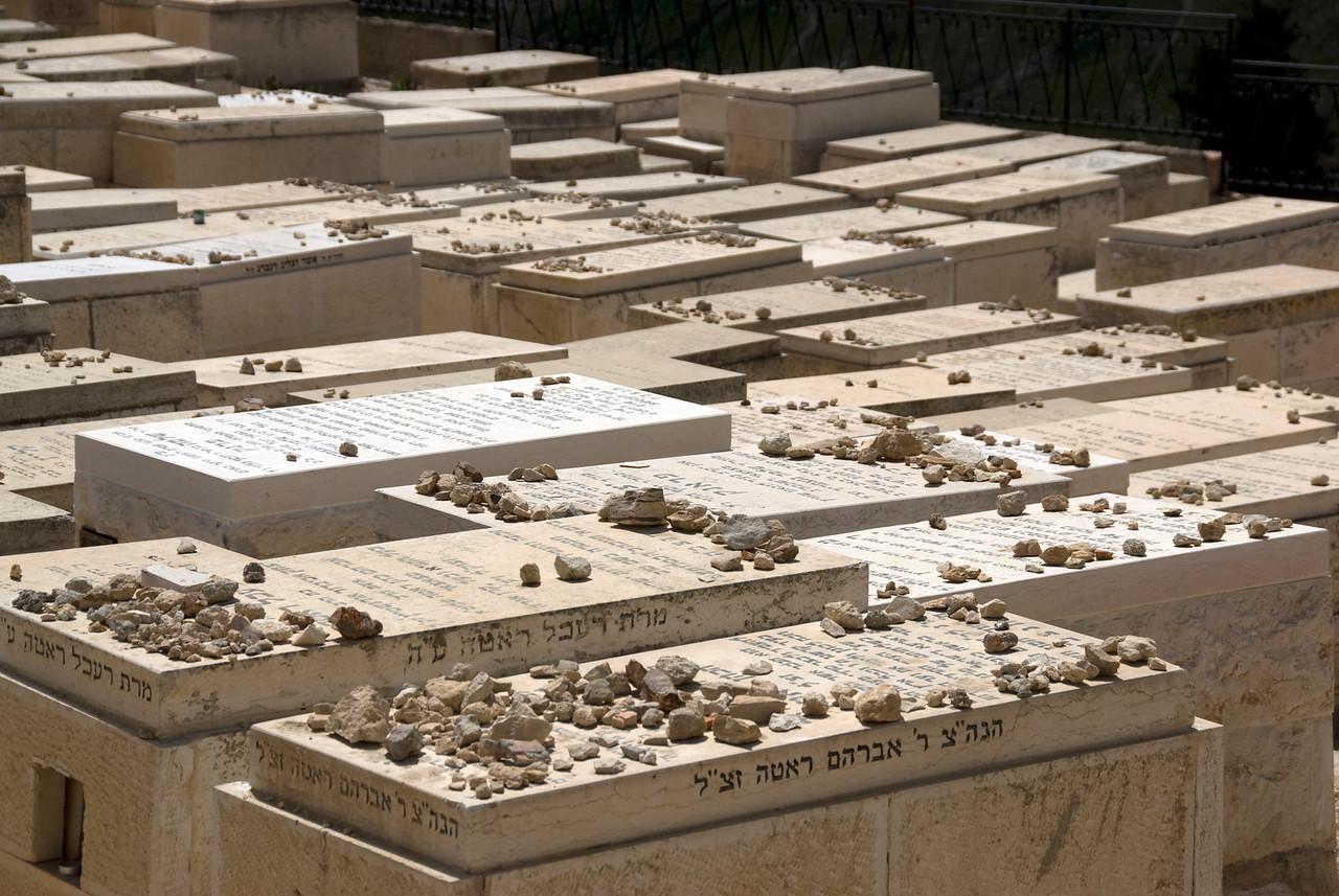 Jewish graves at Temple Mount in Jerusalem, Israel