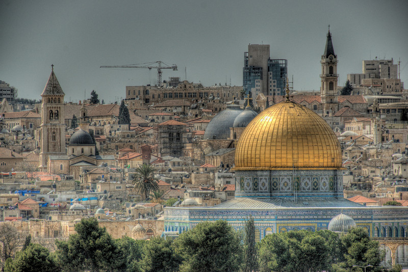 Dome of the Rock and skyline in Jerusalem, Israel