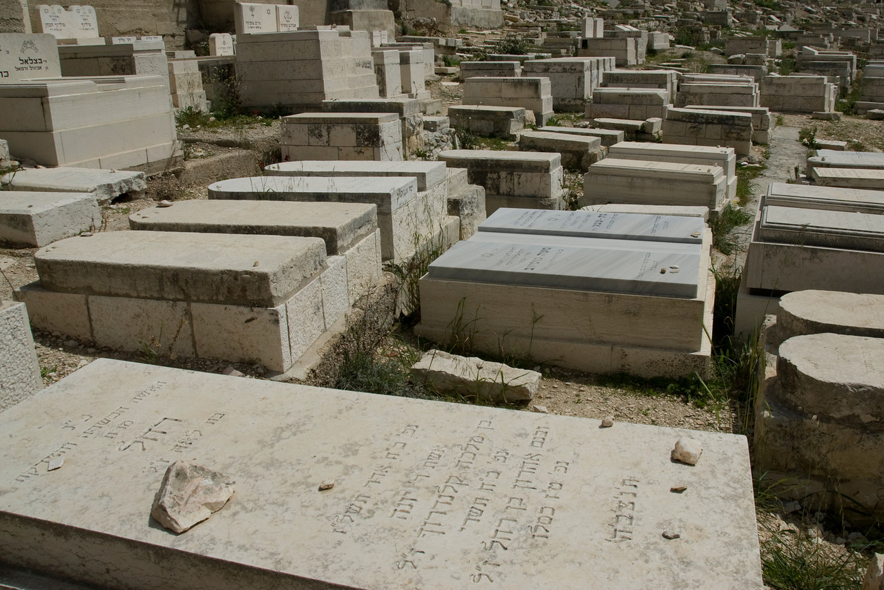 Jewish graves in Temple Mount in Jerusalem, Israel