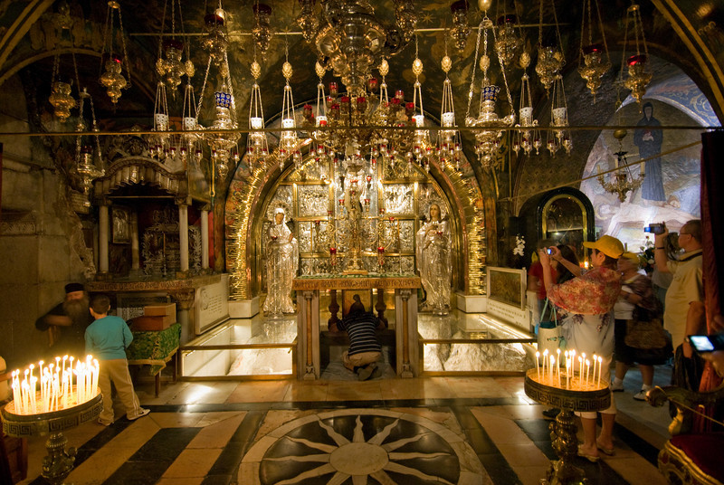 Inside Church of the Holy Sepulchre in Jerusalem, Israel