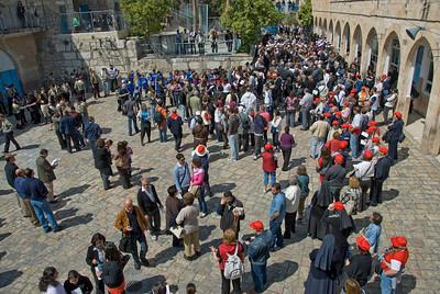 Good Friday crowd in Jerusalem, Israel