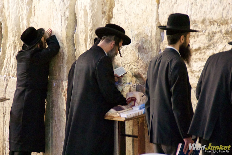 Jews seeking solace at the Wailing Wall