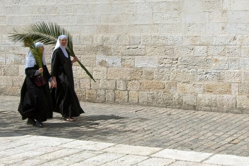 Women outside the Temple Mount in Jerusalem, Israel