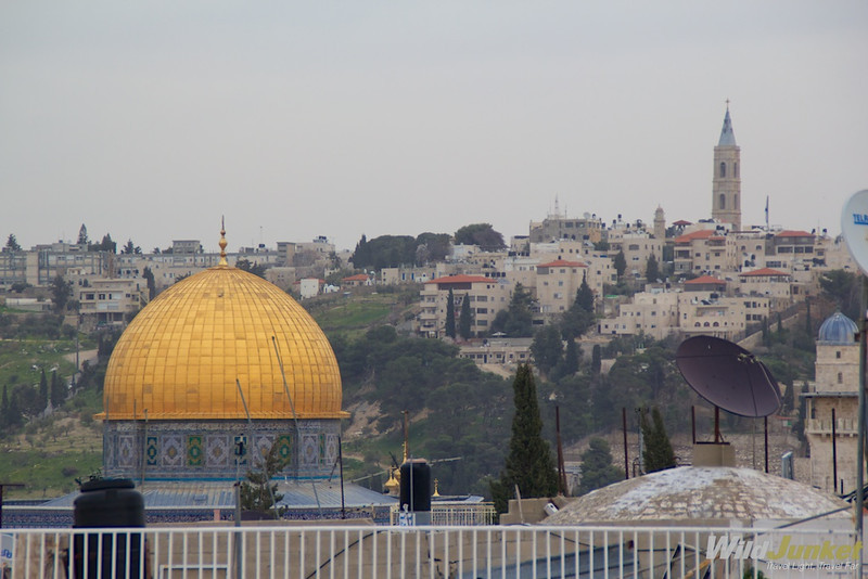 View of the Dome of Rock and Mount Temple