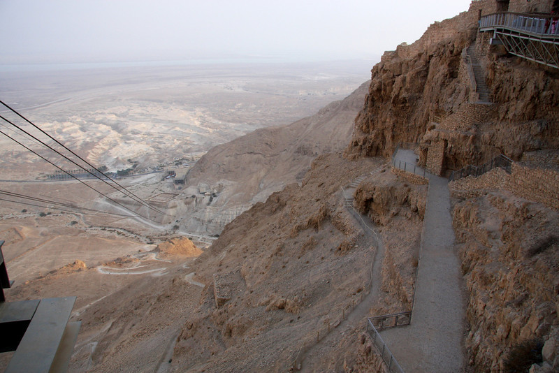 You can either walk up via the trail or take the cable car. Masada, Israel ,2007