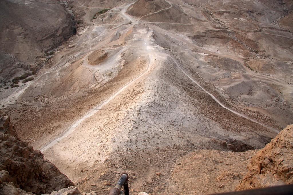 Roman earthen ramp Masada, Israel ,2007