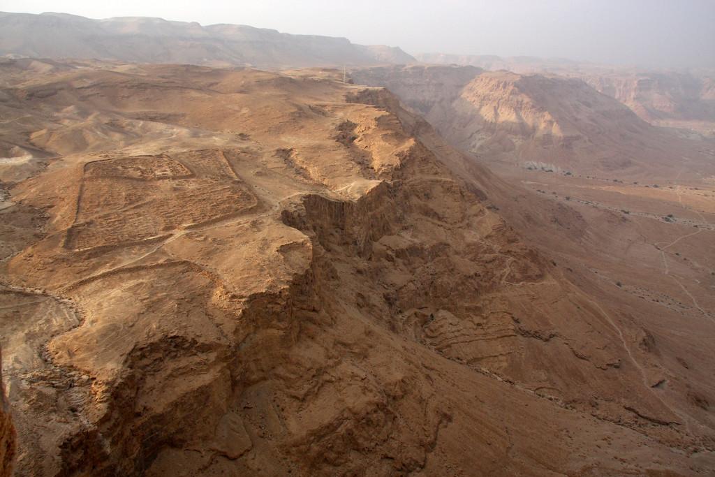 Roman siege camp Masada, Israel ,2007