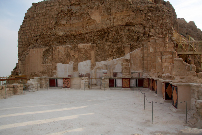 Part of Herod's palace. Masada, Israel ,2007