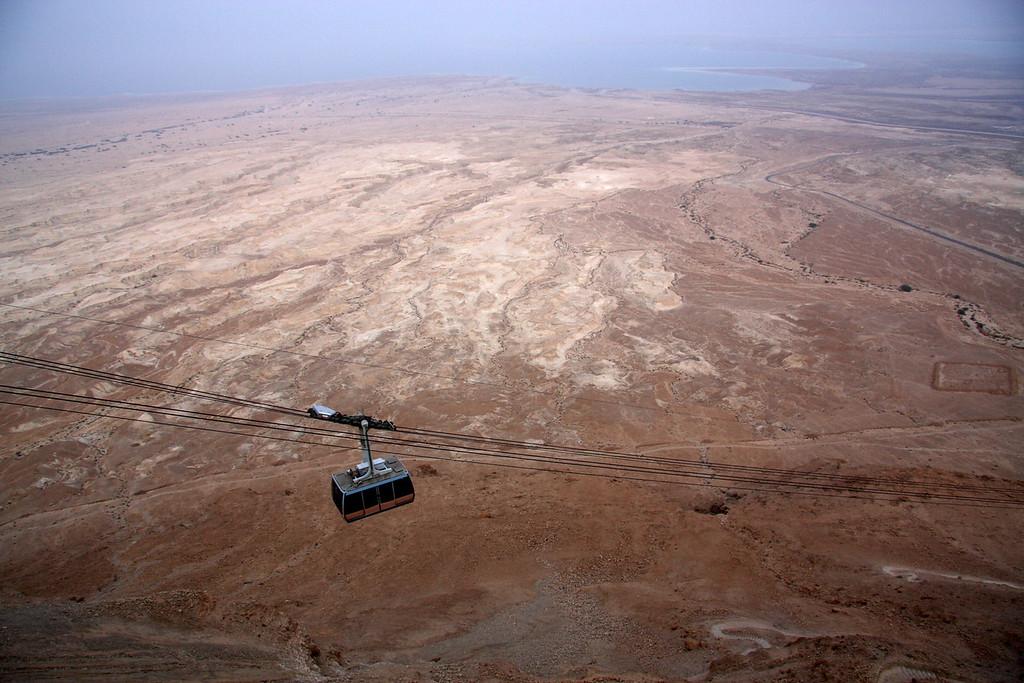 Cable car, great vistas! Masada, Israel ,2007
