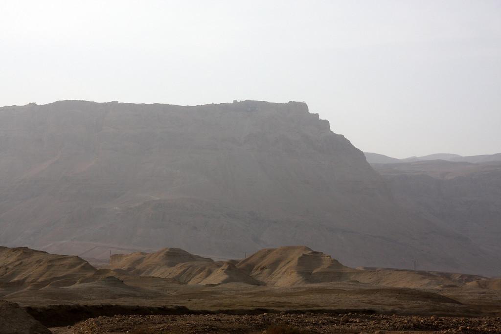 Masada view from hwy90 Masada, Israel ,2007