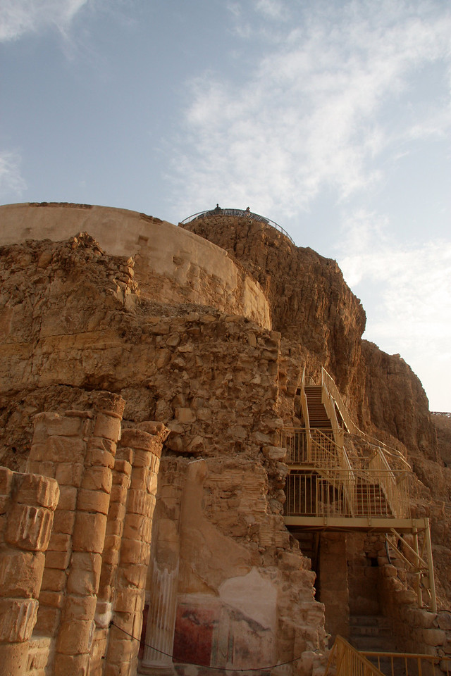 Herod's famous palace is on the north tip Masada, Israel ,2007