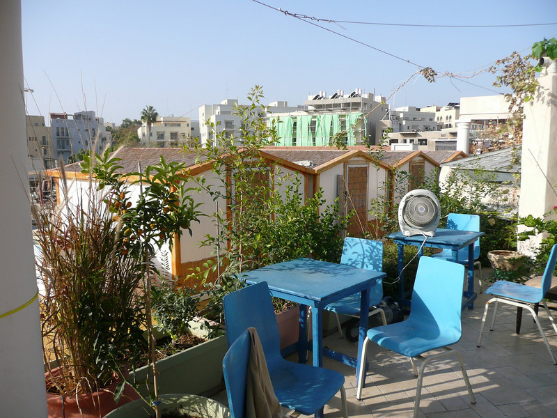 """rooftop, our home in Jaffa, the old jaffa hostel/guesthouse, great rooftop spot, it was perfectly located as well:  <a href=""""http://www.telaviv-hostel.com/rooms.html"""">http://www.telaviv-hostel.com/rooms.html</a> Old Jaffa, Israel ,2007"""