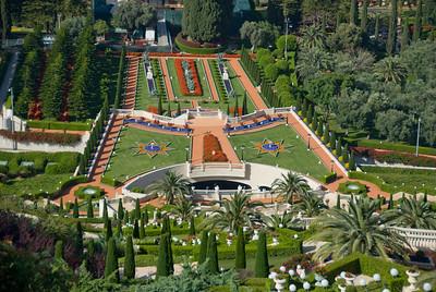 Baha'i Gardens in Haifa, Israel