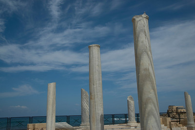 Columns at the Ruins of Caesarea Maritima in Israel