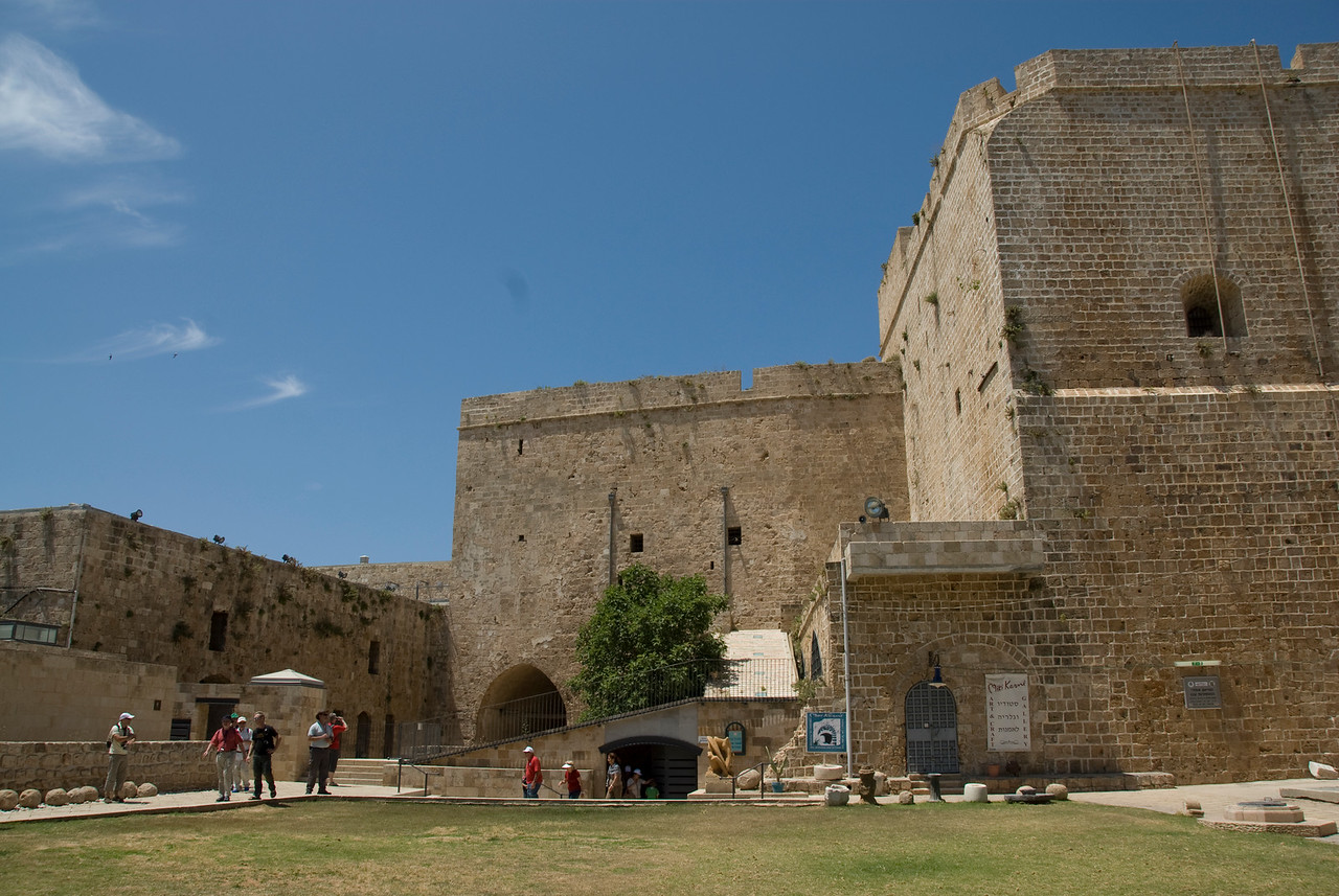The Crusader Castle in the Old City of Acre, Israel