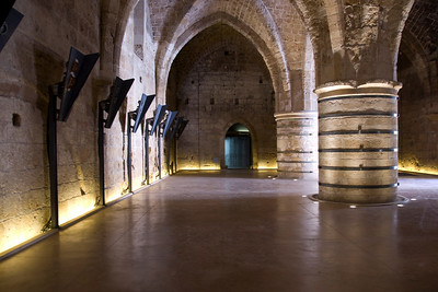 The Great Hall inside The Hospitaller Fortress in Israel