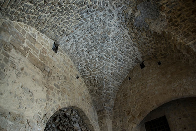 Closer look at ceiling construction at the Hospitaller Fortress in Israel