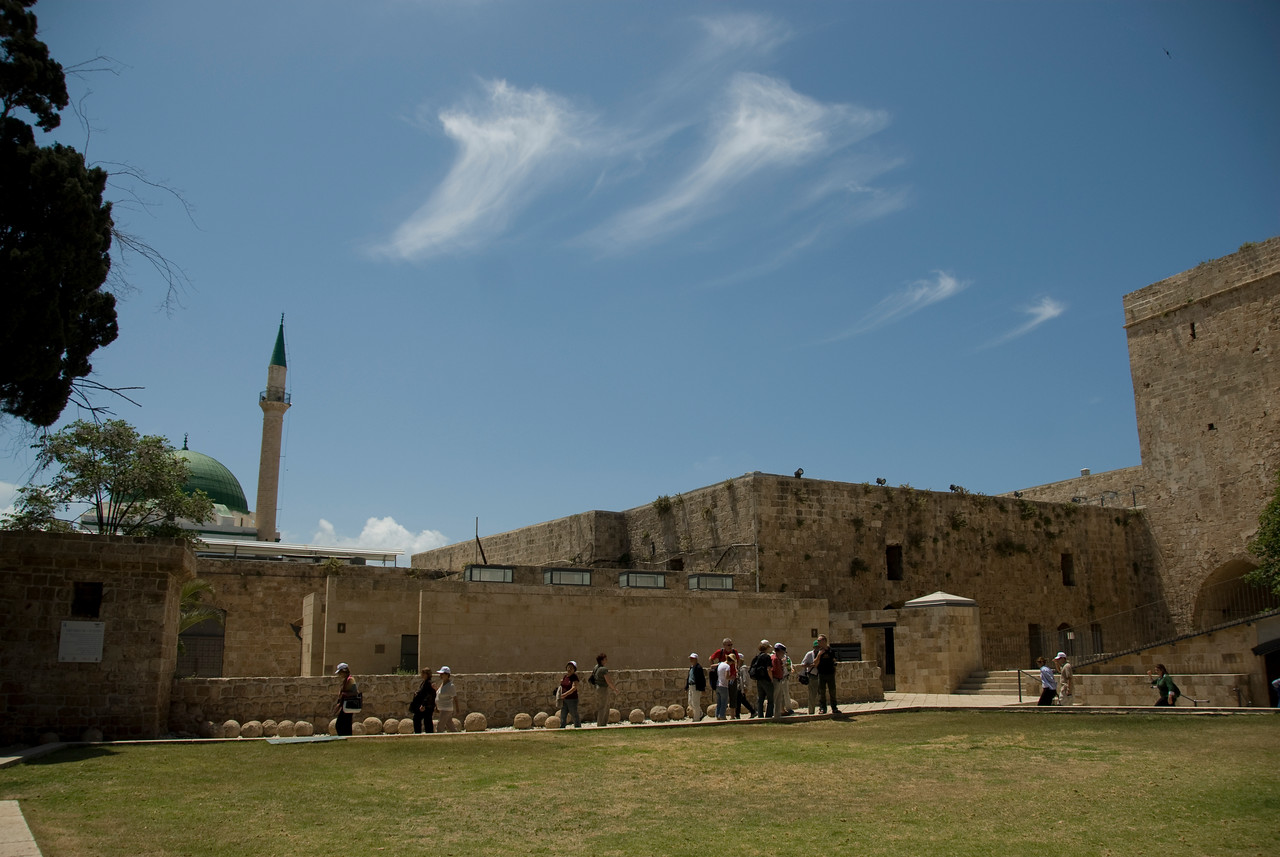 The Crusader Castle and Sinan Pasha Mosque in Israel